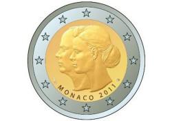 Monaco 2011 2 euro Huwelijk Albert & Charlène UNC
