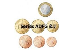 Series Duitsland 2012 ADFGJ UNC Zonder de 2 euromunt