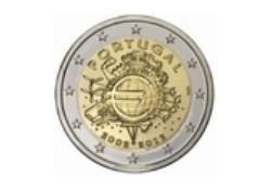 2 Euro Portugal 2012 10 Jaar Euro Unc