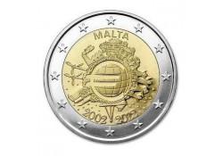 2 Euro Malta 2012 10 jaar Euro Unc