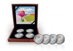 Nederland 2012 5 euro Zilveren Tulpen Proof Kleurset