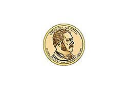 KM ??? U.S.A. 21th President Dollar 2012 D  Chester Arthur