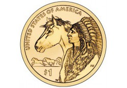 Km ??? USA 1 dollar 2012 P Native American Trade Routes
