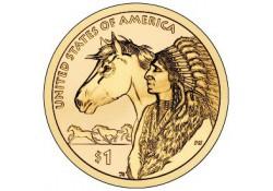 Km ??? USA 1 dollar 2012 D Native American Trade Routes
