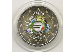 2 Euro Malta 2012 10 jaar Euro Gekleurd 151/2