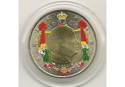 2 Euro Monaco 2011 Gekleurd Type 4
