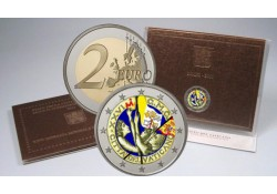 2 Euro Vaticaan 2011 Wereldjongerendag Madrid gekleurd 131/1