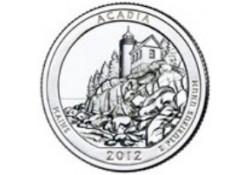 KM ??? U.S.A ¼ Dollar Acadia 2012 P UNC