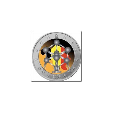 2 Euro België 2006  Atonium Gekleurd 016/2