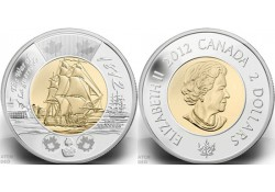 Km+??? Canada 2 Dollar 2012 Unc War of 1812 HMS Shannon