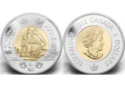 Km+??? Canada 2 Dollar 2012 Unc War of 1812 HMS Shannon