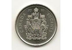 Km ??? Canada ½ Dollar 2010 Unc