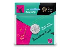 Groot Britannië 50 Pence 2012 Olympics num. 4 Badminton