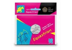 Groot Britannië 50 Pence 2012 Olympics num.10 Paardensport