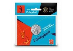 Groot Britannië 50 Pence 2012 Olympics num.26 Volleybal