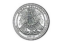 KM ??? U.S.A ¼ Dollar Hawaï Volcanoes 2012 D UNC