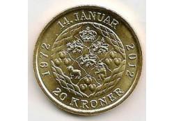 Km ??? Denemarken 20 Kroner 2012 Unc 1972-2012