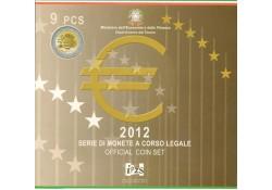 Bu set Italië 2012 met de 2 Euromunt comm.10 jaar euro