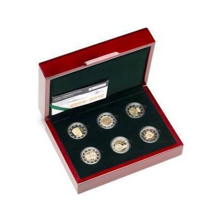 Proofset Luxemburg 2012 met de 2 euromunten 2009-2012