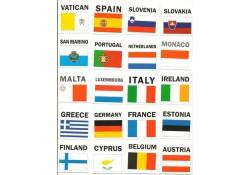 20 Euro landen kaartjes 5x5 cm
