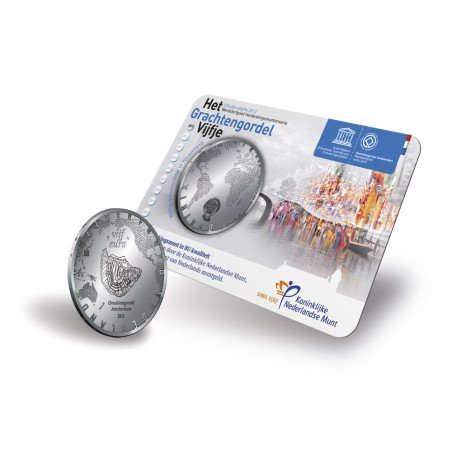 Nederland 2012 5 euro Grachtengordel Unc in Coincard