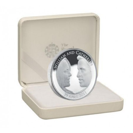 Km ??? Groot Brittanië 5 Pound 2011 Royal wedding Zilver