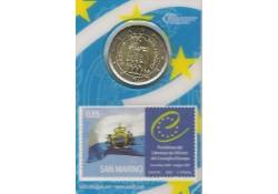 San Marino 2012 2 euro met zegel