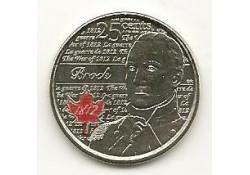 Km ??? Canada 25 Cents 2012 Brock Gekleurd