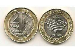 Km ??? Argentinië 2 Pesos 2012 Falkland Islands Unc