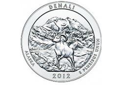 KM ??? U.S.A ¼ Dollar Denali 2012 P UNC