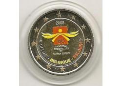 2 Euro België 2008 Mensenrechten Gekleurd 063/3