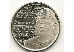 Km ??? Canada 25 Cents 2012 Tecumseh