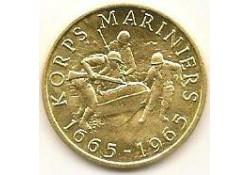 Penning Goud 300 jaar Mariniers 1665-1965