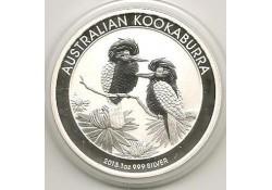 Km ??? Australië 1 Dollar Kookaburra 2013 1 ounce Silver