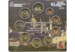 Bu set Spanje 2013 World Money Fair Berlin met 2x 2 euro
