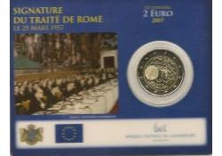 2 Euro Luxemburg 2007 Verdrag van Rome Bu in Coincard