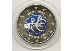 2 Euro Cyprus 2009 Emu gekleurd 69/3