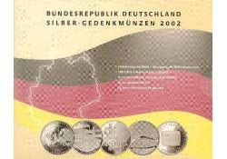euro Duitsland 2002 5X Proof