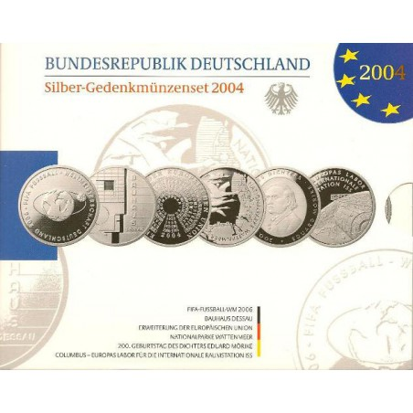 10 euro Duitsland 2004 6X Proof