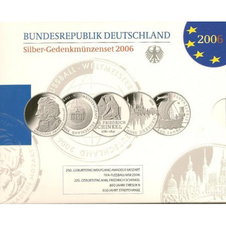 10 euro Duitsland 2006 5X Proof