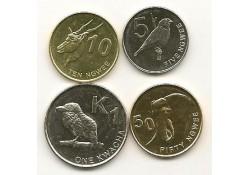 Km ??? Zambia 5-10-50 Ngwee en 1 Kwacha 2012 Unc