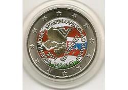 2 euro Slowakije 2011 20 jaar visegradgroep Gekleurd 123/2