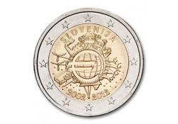 2 euro Slovenië 2012 10 jaar euro Proof in Capsule