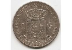 1 gulden 1847 ZF-