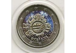 2 euro Slovenië 2012 10 jaar euro gekleurd (kap)