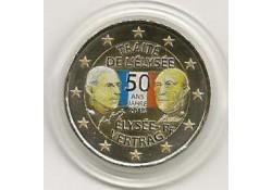 2 Euro Frankrijk 2013 Verdrag van Elysée Gekleurd 200/4