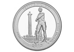 KM 543 U.S.A ¼ Dollar Perry's Victory 2013 P UNC