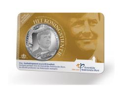 Nederland 2013 10 Euro Koningstientje Verzillverd  Bu in Coincar
