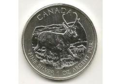 Km ??? Canada 5 dollar 2013 Hert Unc 1 Ounce zilver
