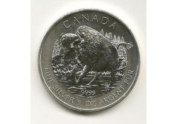 Km ??? Canada 5 dollar 2013 Bison Unc 1 Ounce zilver